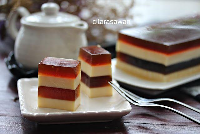 Puding Kopi Berlapis Keju Coffee Cheese Pudding Resepi Terbaik Puding Keju Makanan Hidangan Penutup
