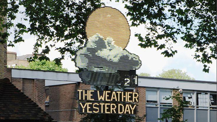É mais fácil prever o ontem.  The Weather Yesterday by Troika