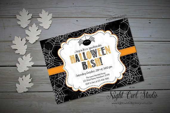 Hey, I found this really awesome Etsy listing at https://www.etsy.com/ca/listing/161185295/halloween-invitation-children-halloween
