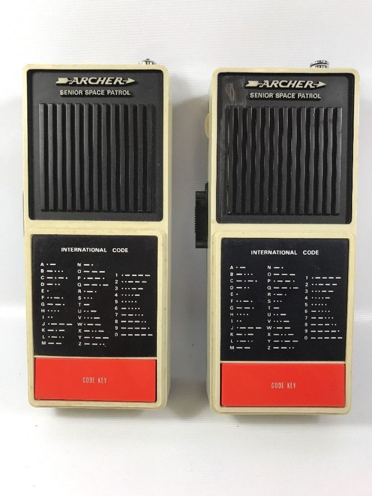WORKS 1976 Archer senior space patrol walkie talkie pair morse code Radio Shack  | eBay