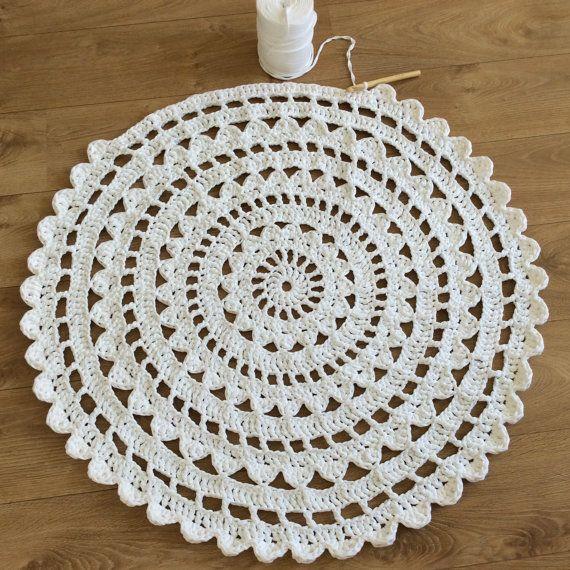 Oltre 20 migliori idee su tappeto all 39 uncinetto su - Piastrelle esagonali uncinetto ...