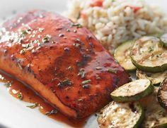 This was so good! Ruby Tuesday Restaurant Copycat Recipes: Hickory Bourbon Salmon