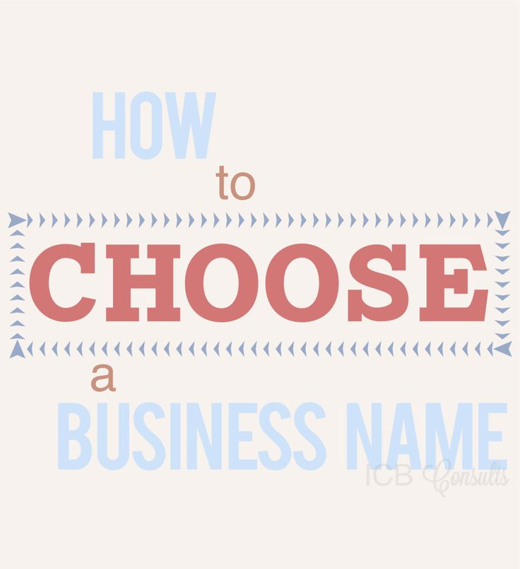 How to Choose a Business Name. #blogICB