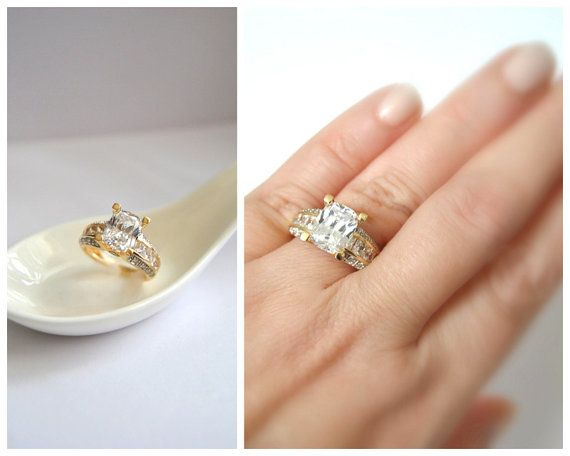 PROMISE of FOREVER Ring Non-diamond Engagement Ring by EventOutlet