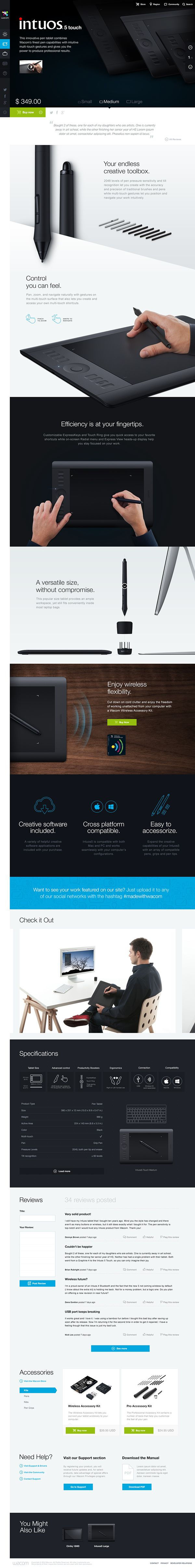 Wacom.com Re-Design by Tobias van Schneider, via Behance
