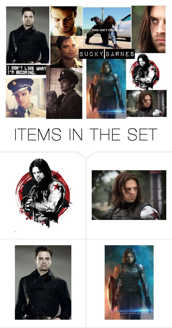 """""""Bucky Barnes"""" by emily-dickson-1 ❤ liked on Polyvore featuring art"""
