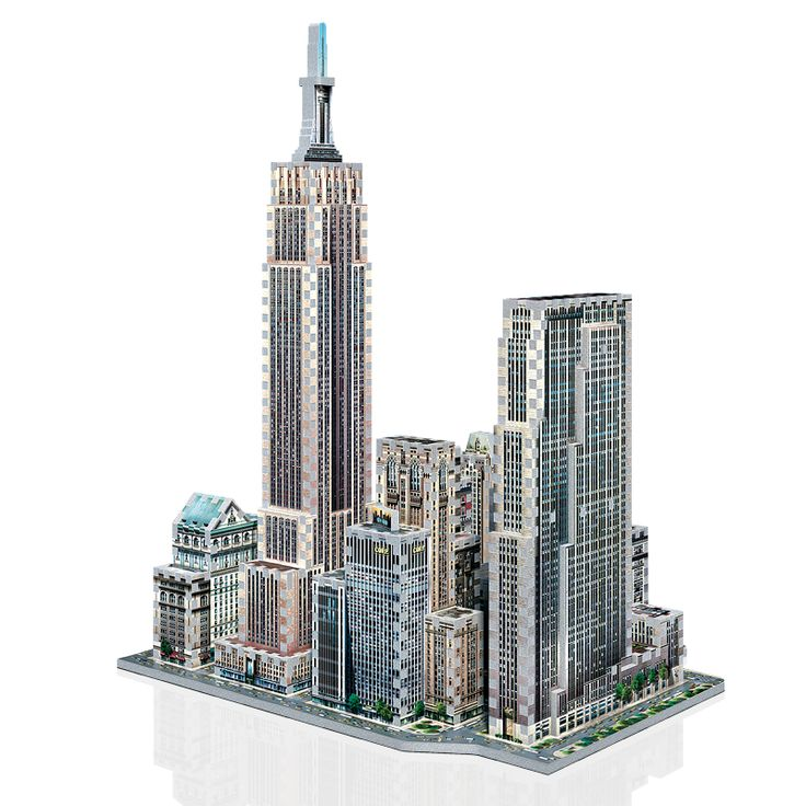Midtown West 3D Puzzle 900 Pcs From Wrebbit Includes Empire State Building
