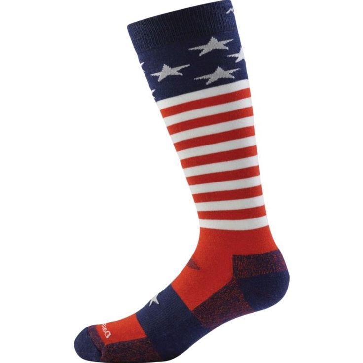 Darn Tough Kids' Captain Stripes JR. Cushion Over-the-Calf Socks, Kids Unisex, Size: Medium, Multi