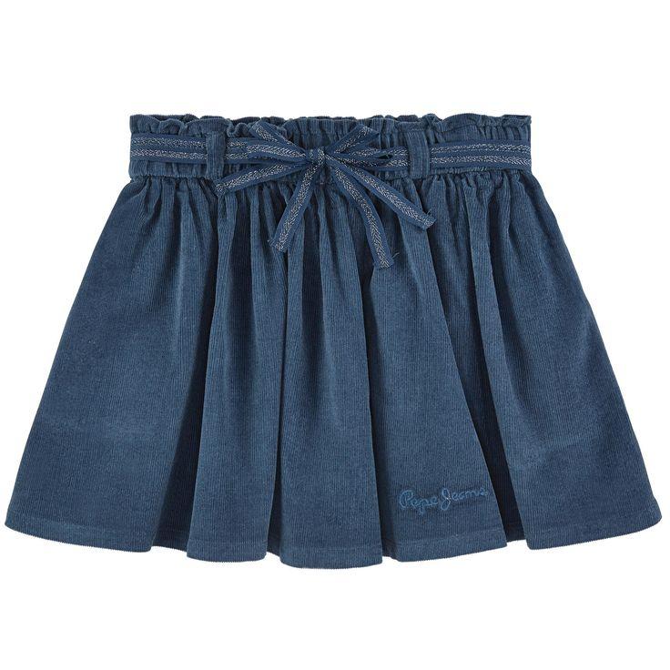 Pin-striped velvet Elastic waistband Slit pockets String belt - 45,00 €