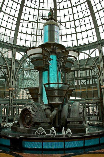 steampunksteampunk:  Steampunk Mall Fountain