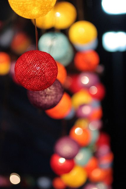 String lanterns.