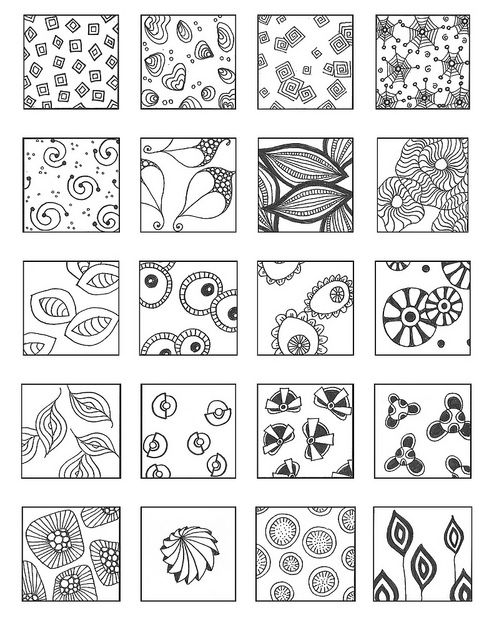 Tangle Patterns | floating 2 | Emily Perkins (enajylime on Flickr)