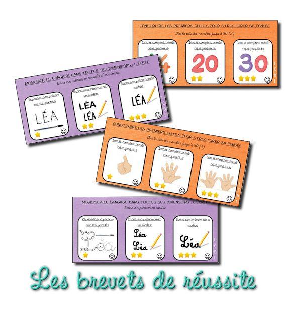 Les brevets de réussite à la maternelle (La classe de Laurène)