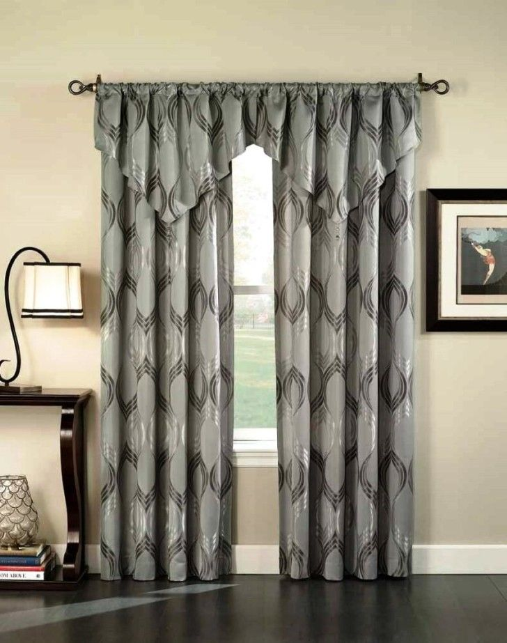Living Room:Modern Curtain Beautifies Your Window On Living Room Sleek Grey Ceramic Floor Tile Also Modern Curtains Paired With Flax Wall Painting Idea