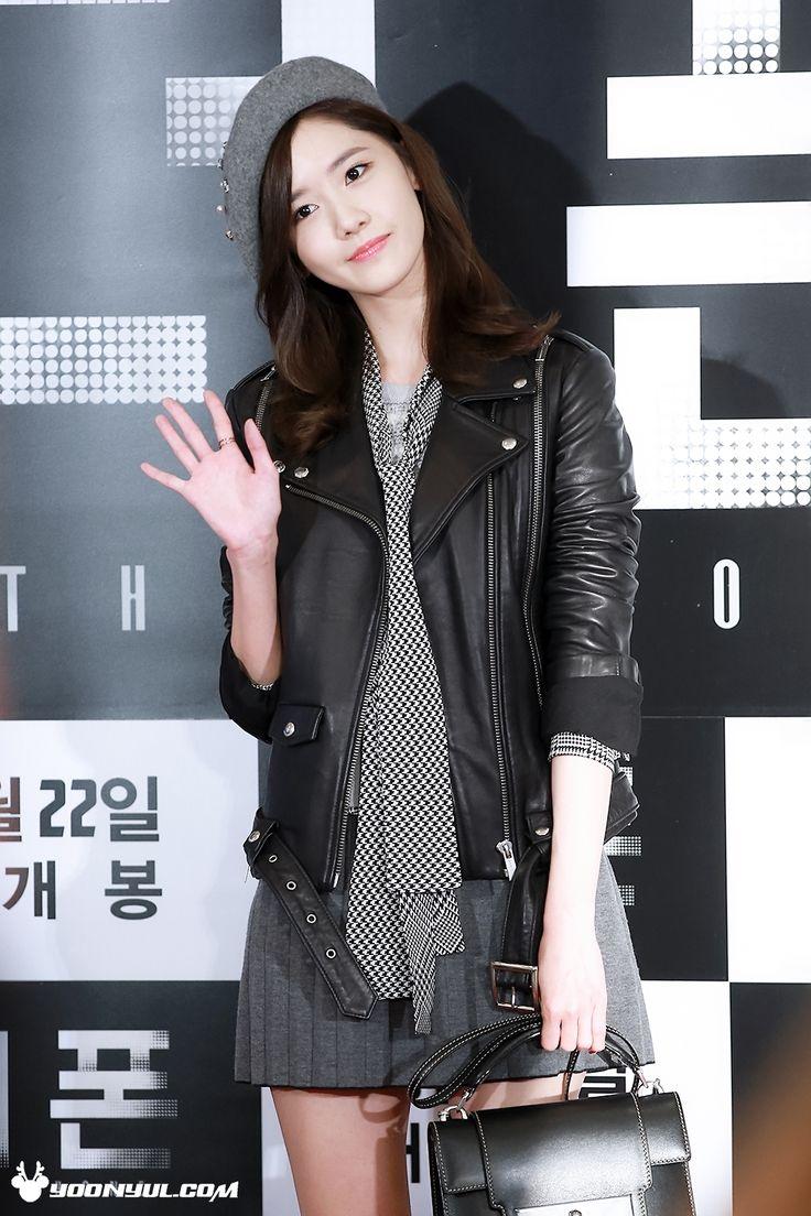 SNSD Yoona Kpop Fashion 151019 2015 | Leather Jacket