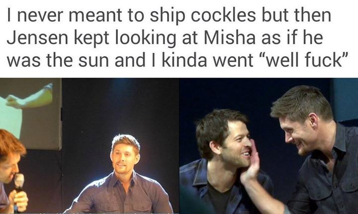 I don't even WATCH Supernatural and I ship them & Destiel. -_-  << that was before I was educated. I'm a huge fan now and I ship them even more now lol