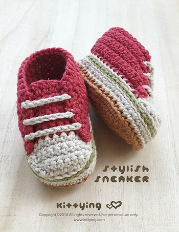 Crochet Pattern Baby Stylish Sneakers