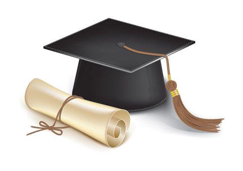 graduation cap template   Graduation cap and diploma   Free Vector Graphic…