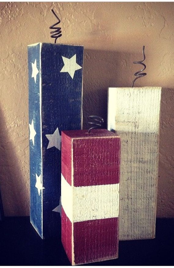 Patriotic Americana FIRECRACKERS craft holiday 4th of July Decorations on Etsy, $14.95