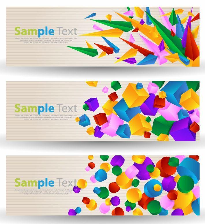 Абстрактный красочный баннер Бесплатная векторная графика | все бесплатный веб-ресурсы для дизайнера - Веб-дизайн горячий!