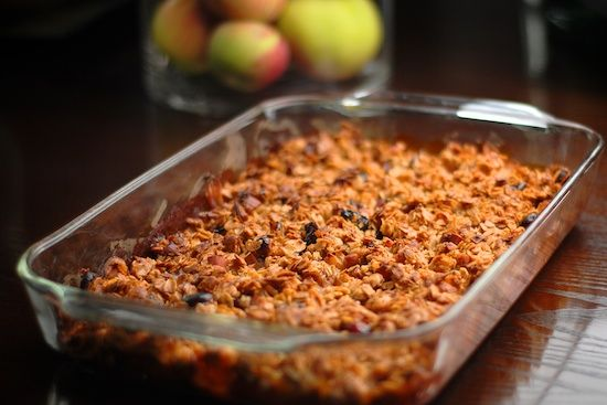 Breakfast apple granola crisp. A delicious breakfast (especially in ...