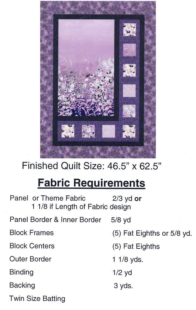 Sidelights Quilt Pattern