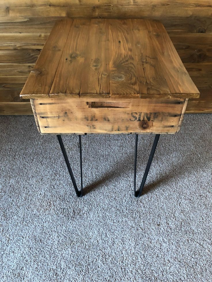 "25"" x 19"" x 24.5"" Reclaimed Fruit Crate End Table with Lid and Storage"