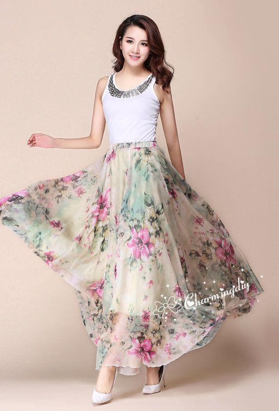 Kleid blumen chiffon