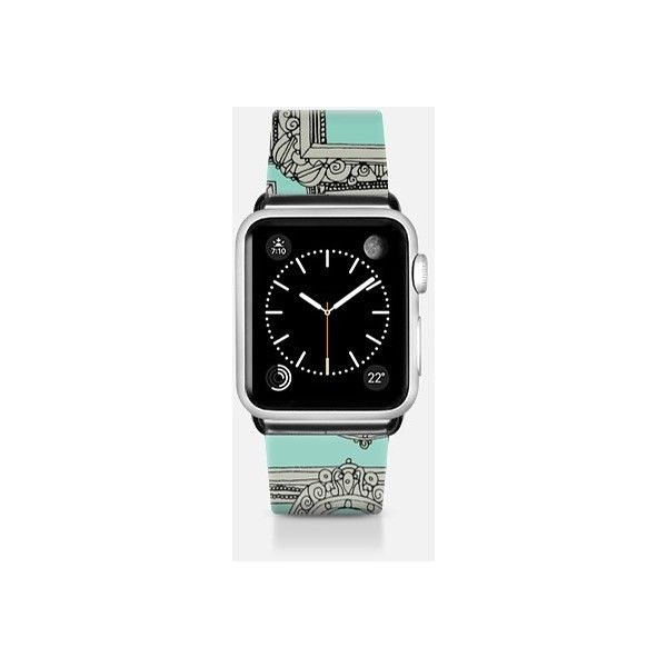 Apple Watch Band - Picture frames aplenty mint watch band (€66) ❤ liked on Polyvore featuring jewelry, watches, apple watch band, mint jewelry, apple watches, mint watches, mint green jewelry and mint green watches