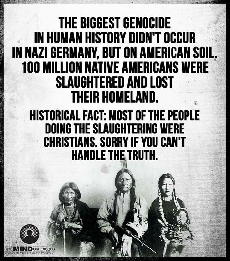 american indian genocide Genocide refers to the deliberate killing of a large number of people in a population in this lesson, we'll talk about native americans and.