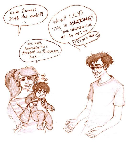James, Lily and baby Harry by Mickisketch ♥ part 1