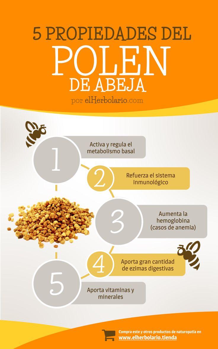 5 Propiedades del polen de abeja, por ElHerbolario.com