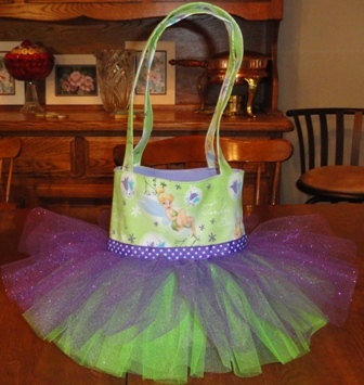 Tinkerbell Tutu Tote Bag Party Favor Gift Bag by SewPizazzed,