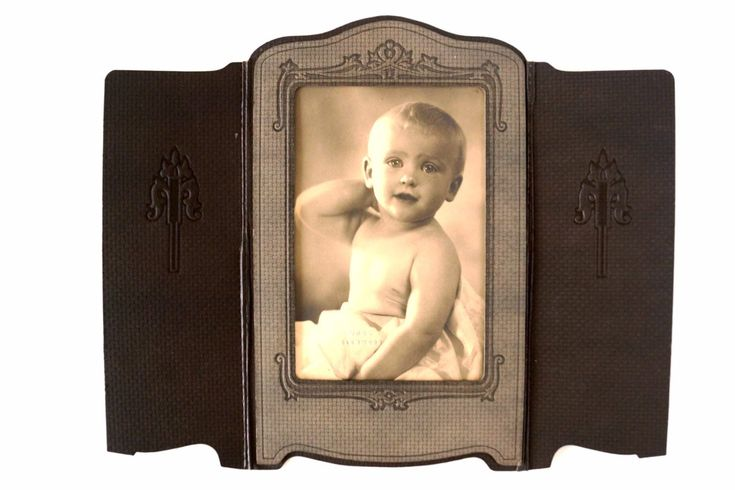 Antique Photograph of Baby Boy in Photo Folder (c.1890s)