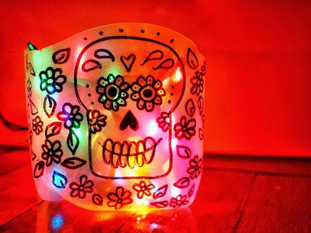 DIY Sugar Skull (Day of the Dead) Milk Jug Luminaries | A ...