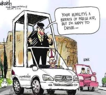I feel like #popefrancis would be more than happy to drive the pope mobile :)