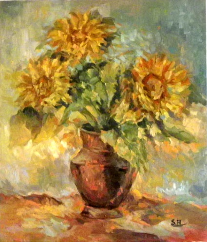 Sonnenblumen  60x80 oil on canvas