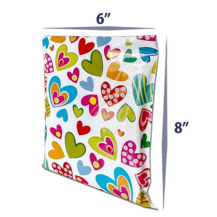 6 x 8 Premium Printed Poly Courier Bags & Mailers With Hearts. Shop Quality Packing Materials at Lowest Price in India.