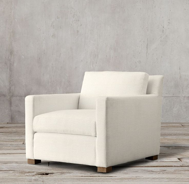 The Petite Belgian Track Arm Upholstered Chair Ash