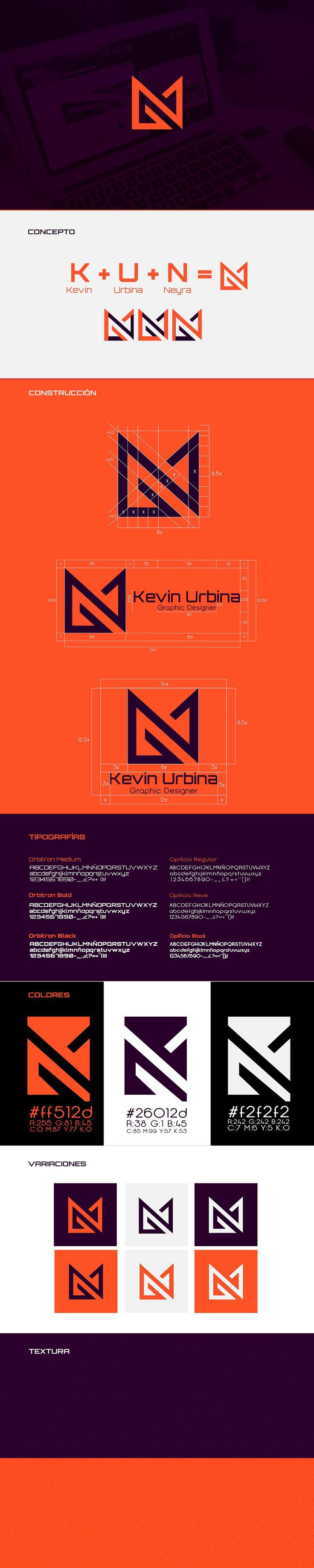 Mi nombre es Kevin Urbina, diseñador gráfico dedicado al branding e ilustración.Logré representar mi personalidad en un isotipo combinando las iniciales de mi nombre y apellidos (K - U - N) con rectas denotando seriedad y compromiso.Los colores elegid…