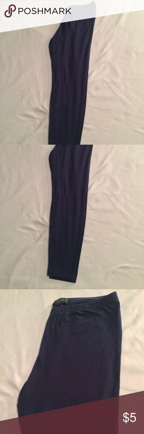 Forever 21 navy blue leggings Forever 21 navy blue leggings. Size 3X Forever 21 Pants Leggings
