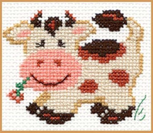 """COUNTED CROSS STITCH KITS LOT """"A DUCKLING"""",""""A FUNNY COW""""&""""A HEDGEHOG"""" ALISA  #ALISA"""
