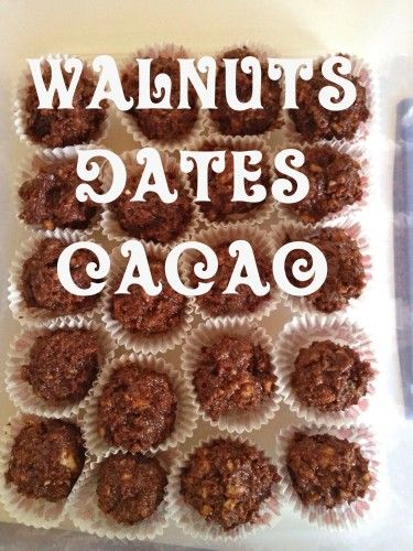 Raw Vegan Chocolate Walnut Balls and 358 days until The Earth Diet book launch