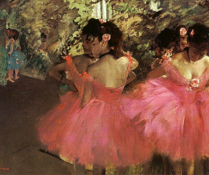 Come closer to the art #ballet Edgar Degas Dancers in Pink