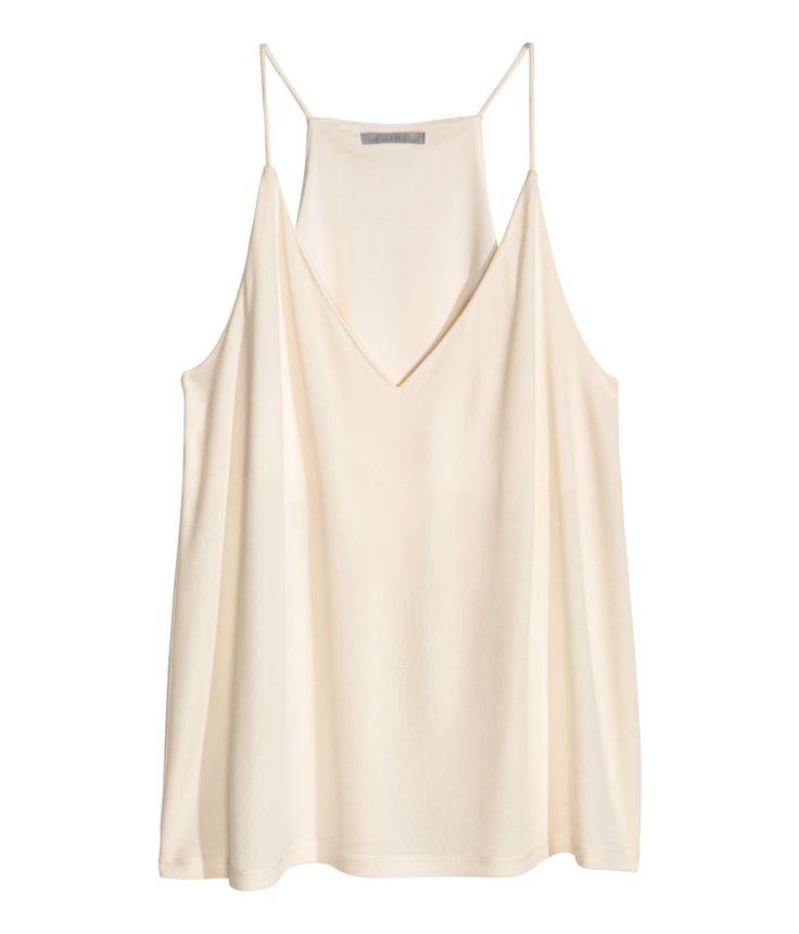 Flared, V-neck camisole top  | H&M Modern Classics