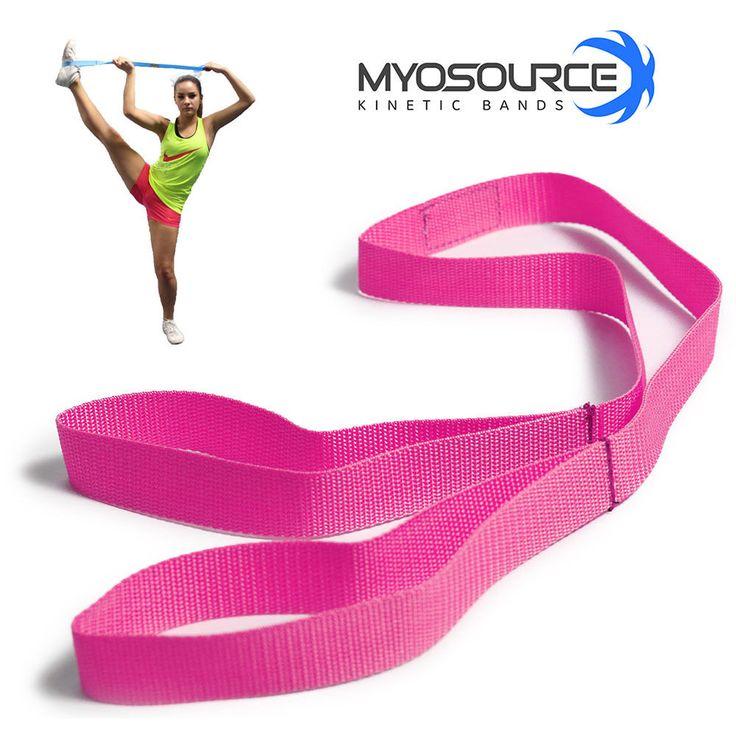 Cheerleading Flexibility Stunt Strap Band Stretching Pink