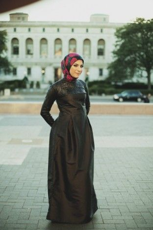 Modern Modest Clothing | black long sleeve evening maxi dress Modern Modest Fashion