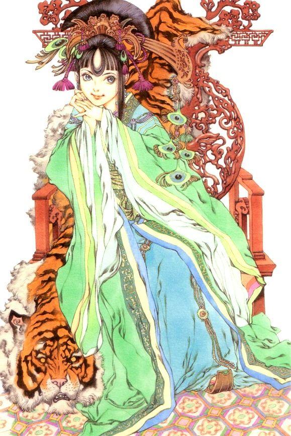 供王 珠晶 Kyouou Shushou:十二国記 Juuni Kokki/Twelve Kingdoms - art by Yamada Akihiro 山田章博