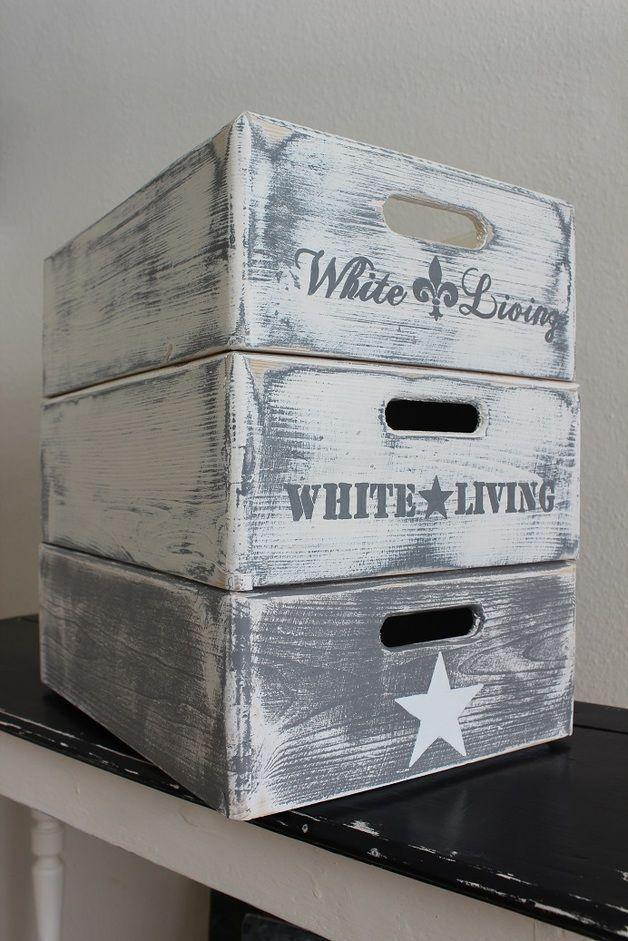 diese kisten sind nicht altich streiche und bemale sie in - Dekoideen Kisten