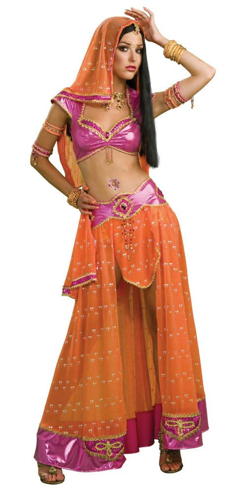 Secret Wishes Bollywood Belly Dancer Exotic Sexy Adult Costume Size Medium 6-10 #Rubies #CompleteOutfit